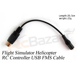 6P Flight Simulator Helicopter RC controller USB FMS Cable