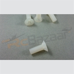 M5×15mm Nylon Screws - counter sunk