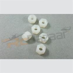 (4nos) M6 D10×H5mm Nylon nut
