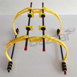 Yellow extended landing gear - Hiller 450 Quad