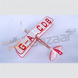 "Tiger Moth 16"" rubber powered glider"