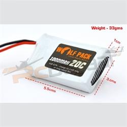 Wolfpack White 1000mah 25C 3.7V