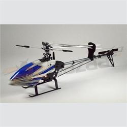 Hiller 450 Pro-X (Blue & silver) belt drive heli kit