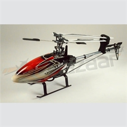 Hiller 450 Pro-X (Red & silver) belt drive heli kit